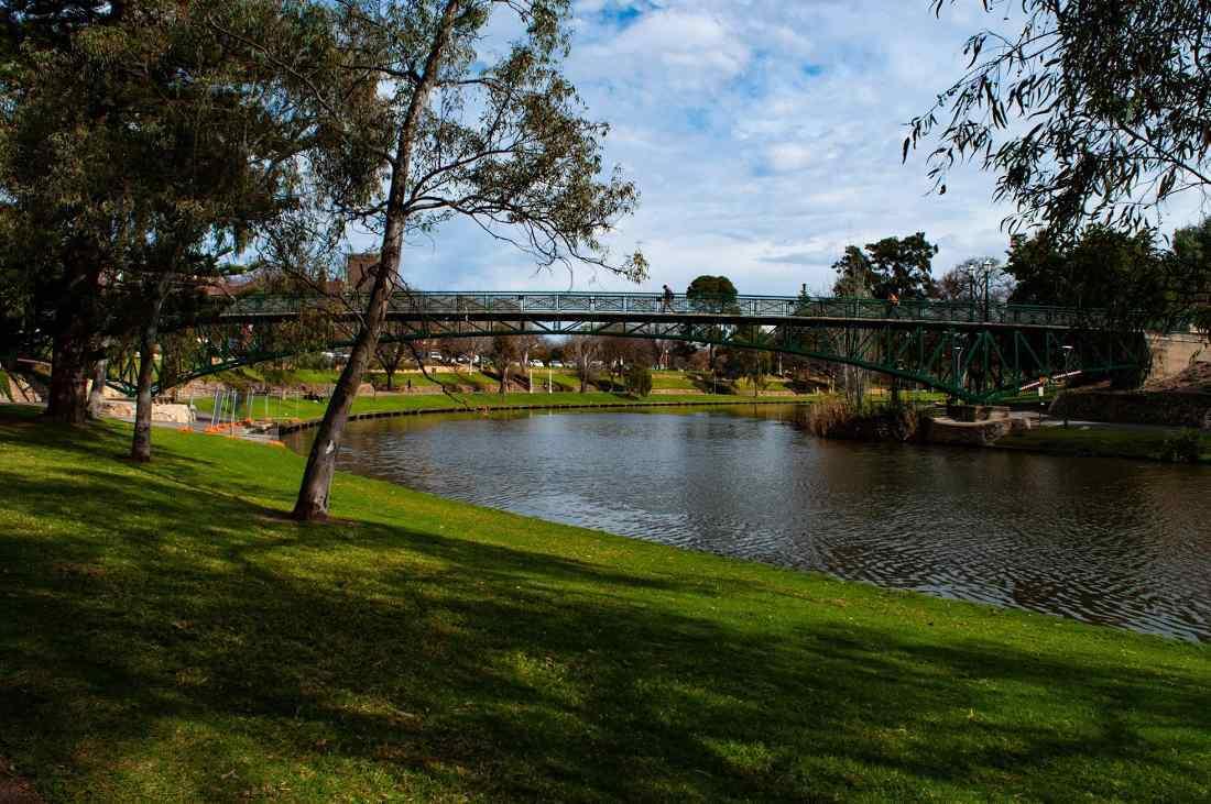 exchange student un parco di Adelaide
