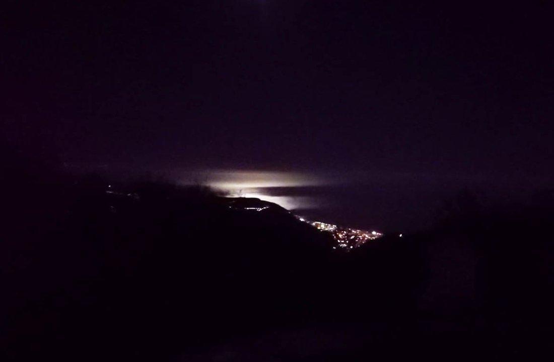 Riviera di Ponente - vita nottura dal Pian delle bosse