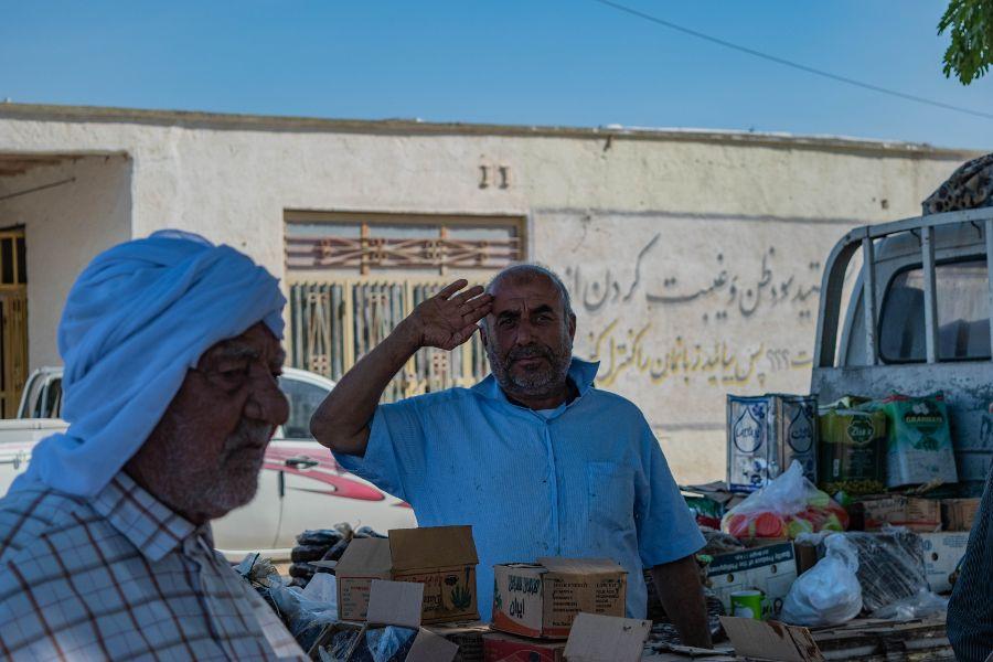 Viaggio in Iran accoglienza al mercato di Qeshm