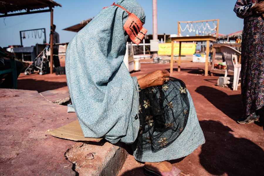 Viaggo in Iran il burqa a Qeshm