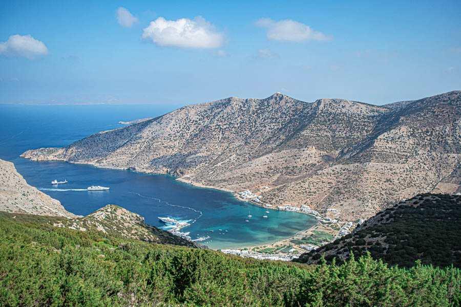 Sifnos vista su Kamares