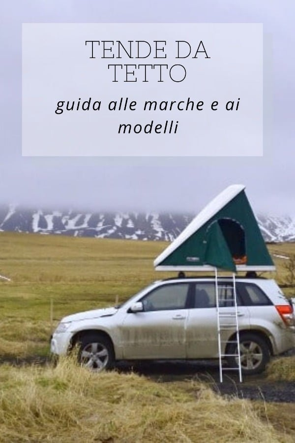 tenda da tetto per auto