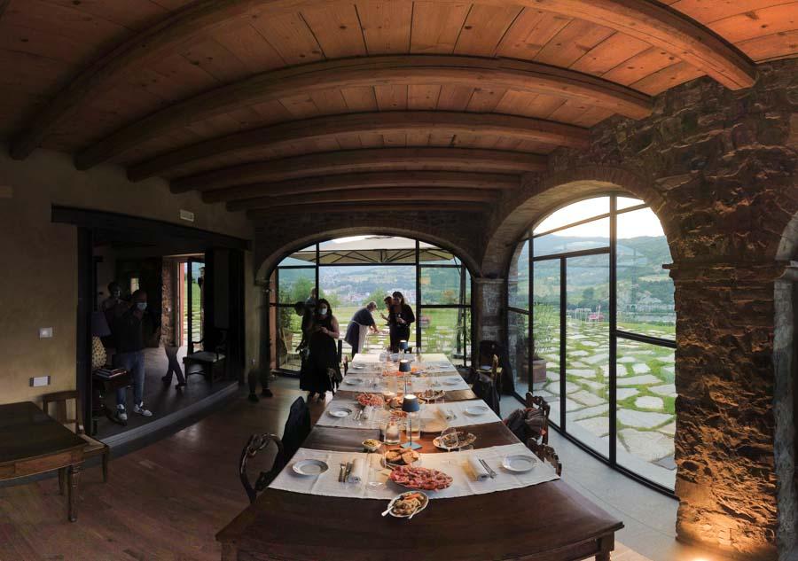 Sala da pranzo Relais Sat'Ambrogio Bobbio
